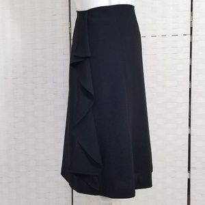 Black Suit Midi Skirt